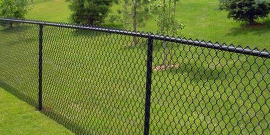 Chain-link fence supplier Acme Fence Supplies Chain-link fence like this.
